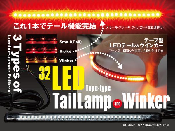 テープ型LEDテール&ウィンカー